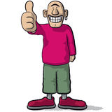 A character with thumb up Royalty Free Stock Image