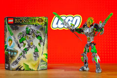 A character toy universe of Lego Bionicle - Lewa, Uniter of Jungle. Stock Images