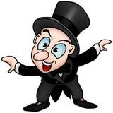 Character and Tuxedo. Cartoon Illustration, Vector Stock Image
