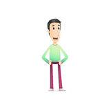 Character in various poses Royalty Free Stock Image