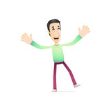 Character in various poses Royalty Free Stock Photography