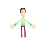 Character in various poses Royalty Free Stock Images