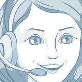 Character. Vector illustration. Beautiful business woman talking character. Vector illustration Royalty Free Stock Photo