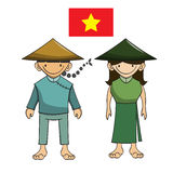 Character of vietnam vector cartoon Stock Photo