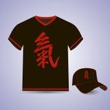 Character vitality. Print on T-shirts, baseball. T-shirt and baseball cap, the image of the character Vitality Royalty Free Stock Image