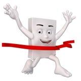 Character winning race Royalty Free Stock Image
