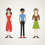 Character woman Stock Images