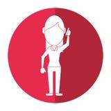 Character woman talk smartphone communication shadow. Vector illustration eps 10 Stock Photos