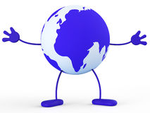 Character World Means Earth Globally And Worldly Stock Photo