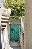 Characteristic alley and door in Positano, Amalfi coast, Italy Stock Images