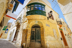 Characteristic alley of Ir-Rabat, Gozo, Malta.  Stock Photography