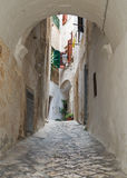 Characteristic alley of Polignano. Apulia. Royalty Free Stock Photos