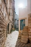 Characteristic alley in Polignano a mare, Apulia, Italy Royalty Free Stock Photography