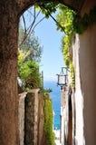 Characteristic alley in Positano town, Amalfi coast, Italy Royalty Free Stock Photo