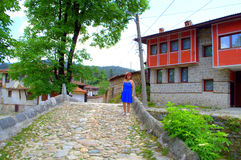 Characteristic architecture in Koprivshtitsa Royalty Free Stock Photos