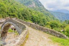 A   characteristic  bridge  of a piedmontese alpine village Royalty Free Stock Photo
