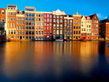 Characteristic buildings of Amsterdam Stock Photography