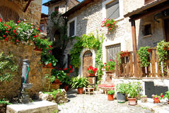 A characteristic corner of the village of Assergi in the Abruzzi Royalty Free Stock Photos