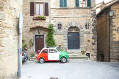In a characteristic country of Italy a nice car with the colors Stock Images