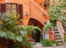 Characteristic courtyard in Italy Royalty Free Stock Photography