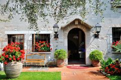 Characteristic entrance hall of a home in Desenzano del Garda, Italy Stock Images