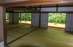 Characteristic interior of a Japanese temple,  Kyoto, Japan Stock Images