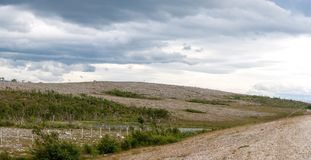 The characteristic landscape of the Arctic tundra in summer, Finnmark, Stock Photography