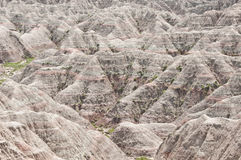 Characteristic landscape of Badlands. Characteristic rock formations create unique landscape at Big Badlands Overlook, South Dakota Royalty Free Stock Image