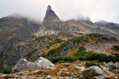 Characteristic mountain peak. Royalty Free Stock Photo