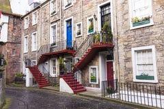 Characteristic neighborhood of edinburgh. Architecture - Characteristic neighborhood of edinburgh Royalty Free Stock Photos