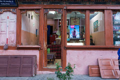 Characteristic shop in the centre of Thimphu Royalty Free Stock Photos