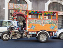 Characteristic Sicilian Oxcart Stock Image
