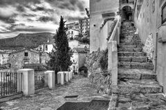 Characteristic of Sperlonga alleys Royalty Free Stock Image