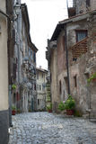 Characteristic street in the medieval village of Norma Royalty Free Stock Images
