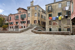 Characteristic street of Venice Royalty Free Stock Image