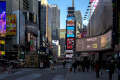 Characteristic view of Times Square Royalty Free Stock Images