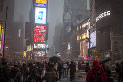 Characteristic view of Times Square Stock Image