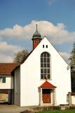 Characteristic white church in Bremgarten, Switzerland Royalty Free Stock Photos