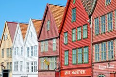 Characteristic wooden houses in Bergen Stock Image
