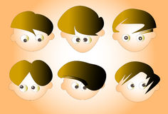 Characteristics faces Royalty Free Stock Images