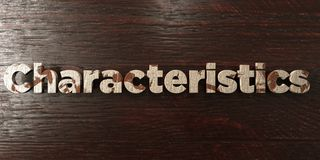 Characteristics - grungy wooden headline on Maple  - 3D rendered royalty free stock image Royalty Free Stock Photography