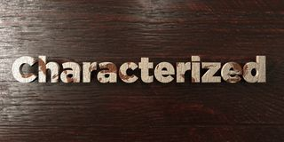 Characterized - grungy wooden headline on Maple  - 3D rendered royalty free stock image Stock Images