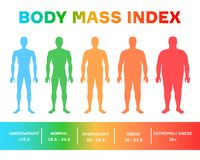 Free Characterizing Male Silhouettes For Different Stages Of Body Mass Index Stock Image - 160203321