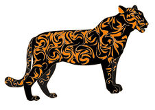 Characters of 2010. Tiger in the designs, characters coming year Royalty Free Stock Images