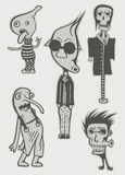 Characters. Set of crazy characters, vector illustration Royalty Free Stock Photos