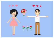 Characters for animation. Lovers. Vector. Characters for animation, fully prepared for use. Lovers, man and woman Royalty Free Stock Photography