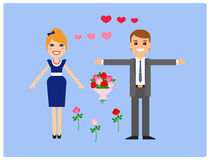 Characters for animation. Lovers. Vector. Characters for animation, fully prepared for use. Lovers, man and woman Stock Images
