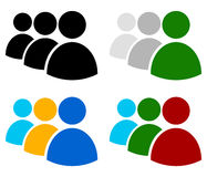 Characters, avatar, figure symbol in different colors Stock Image
