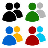 Characters, avatar, figure symbol in different colors Stock Photo