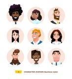 Characters avatars in cartoon flat style Royalty Free Stock Photo